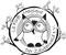 Fits in 160x50 zauberwald uhu logo 4x5cm black