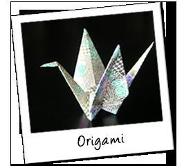 Polaroid japan origami